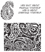 Stampers Anonymous/Tim Holtz - Cling Mount Stamp Set - Paisley Prints – CMS011